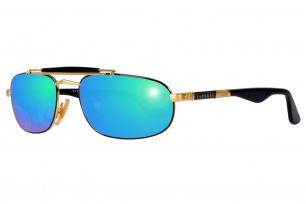 Safilo Mirage 3N-Green Square Frame Sunglasses