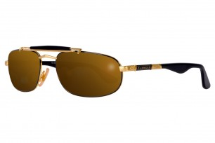 Safilo Mirage 3N-Gold Square Frame Sunglasses